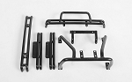 Complete Metal Accessory Set for Tamiya Hilux & Bruiser (Bumpers, Sliders, Rollbar) (Black)