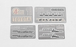 Complete Metal Emblems Set for RC4WD Cruiser Body