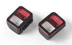 Colored Functional Rear Taillight w/Jeeper Frame for Axial SCX10 Jeep Wrangler