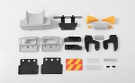 Custom New Rear Bumper System w/ Mud Flaps and Rear Lamps for Tamiya 1/14 Scania
