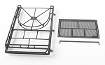 Krabs Roof Rack w/Spare Tire Mount for Axial SCX10 II XJ (Black)