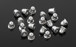 M3 Flanged Acorn Nuts (Silver)