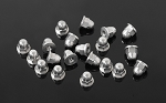 M2.5 Flanged Acorn Nuts (Silver)