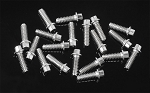 RC4WD Miniature Scale Hex Bolts (M1.6 x 5mm) (Silver)
