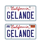 Custom Gelande 3D License Plates Decal Sheet
