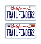 Custom Trail Finder 2 3D License Plates Decal Sheet