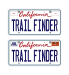 Custom Trail Finder 3D License Plates Decal Sheet