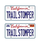Custom Trail Stomper 3D License Plates Decal Sheet