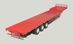 1/14 Scale Full Metal Transporter Trailer (Red)