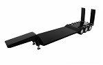 1/14 Scale Heavy Duty Flat Bed Transporter with Electric Lifting Ramps (Black)
