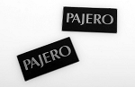 Metal License Plate for Tamiya CC01 Pajero (Black)