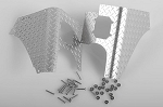Rear Diamond Plates Corner Set for Tamiya CC01 Wrangler (Silver)