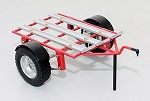 1/10 Dual Rails Dirt Bike ATV Trailer (Red Edition)