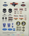 RC4WD Exclusive Licensed Manufacturers Decal Sheet