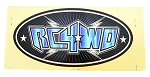 Monster Size RC4WD Logo Decal (Blue)