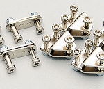 Leaf Spring Shackles & Mounts Kit (Silver)