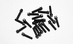 RC4WD Miniature Scale Hex Bolts (M2 x 8mm) (Black)