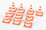 1/10 Scale Orange Rubber Traffic Cone (Glow in Dark)