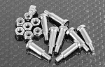 Leaf Spring Shoulder Screws (Silver)