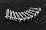Button Head Cap Screws M2.5 x 8mm (10)