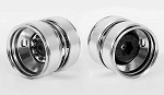 Diesel Rear Semi Truck Stamped Beadlock Wheels (Chrome) (Pair)