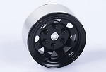 Stamped Steel 1.55 Stock Black Beadlock Wheel