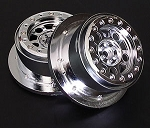 Shock Chrome Beadlock Wheels Traxxas Slash 2WD (4)