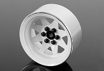 6 Lug Wagon 2.2 Steel Stamped Beadlock Wheels (White)