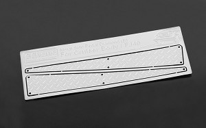 Metal Side Diamond (B) Plates for RC4WD Cruiser Body (Silver)