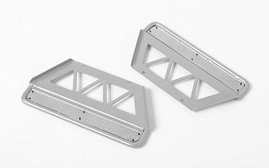 Trifecta Side Sliders for Land Cruiser LC70 Body (Silver)