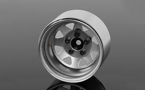 "5 Lug Deep Dish Wagon 1.9"" Steel Stamped Beadlock Wheels (Plain)"