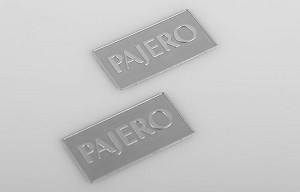 1/10 Metal License Plate for Tamiya CC01 Pajero (Silver)