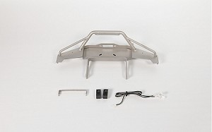Solid Front Bumper for Axial SCX10 II XJ (Silver)