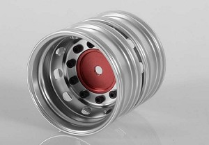 Boulder Semi Truck Rear Wheels with Scale Hub (Red) (Pair)