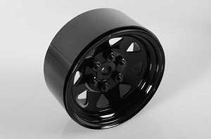 "6 Lug Wagon 1.9"" Single Steel Stamped Beadlock Wheel (Black)"