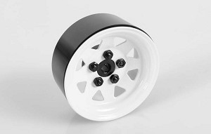 "5 Lug Wagon 1.9"" Single Steel Stamped Beadlock Wheel (White)"