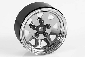 "5 Lug Wagon 1.9"" Single Steel Stamped Beadlock Wheel (Chrome)"