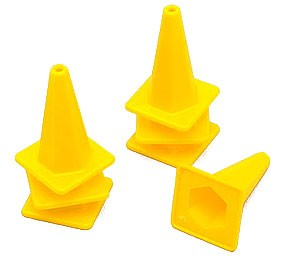 1/10 Scale Traffic Cone (Yellow)