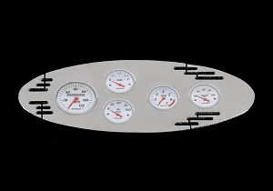 1/8 Chrome Instrument Panel with Instrument Decal Sheet (Style A)