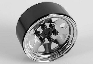 "6 Lug Wagon 1.9"" Steel Stamped Beadlock Wheels (Chrome)"