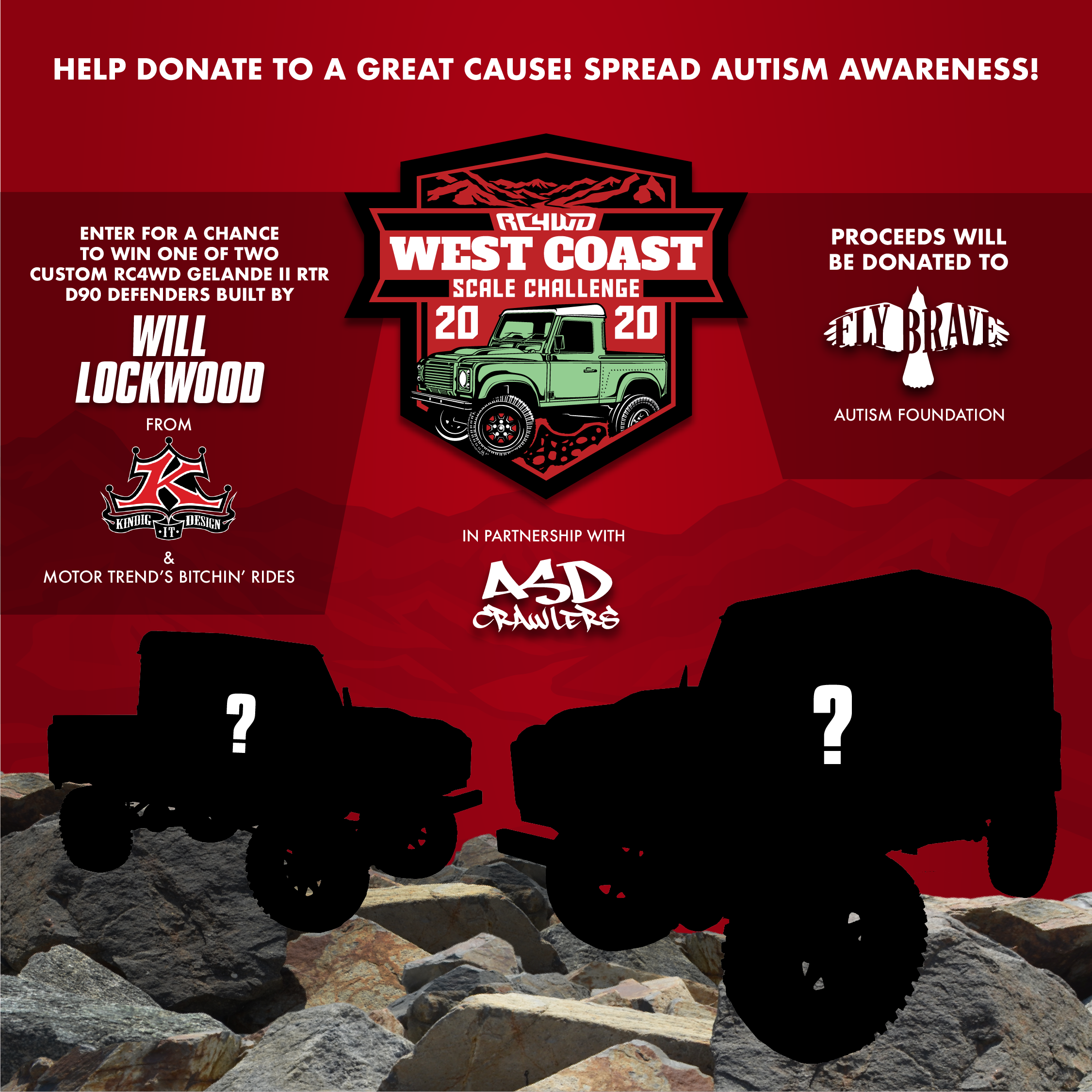 RC4WD West Coast Scale Challenge 2020 Build Giveaway by ASD & Fly Brave Foundation