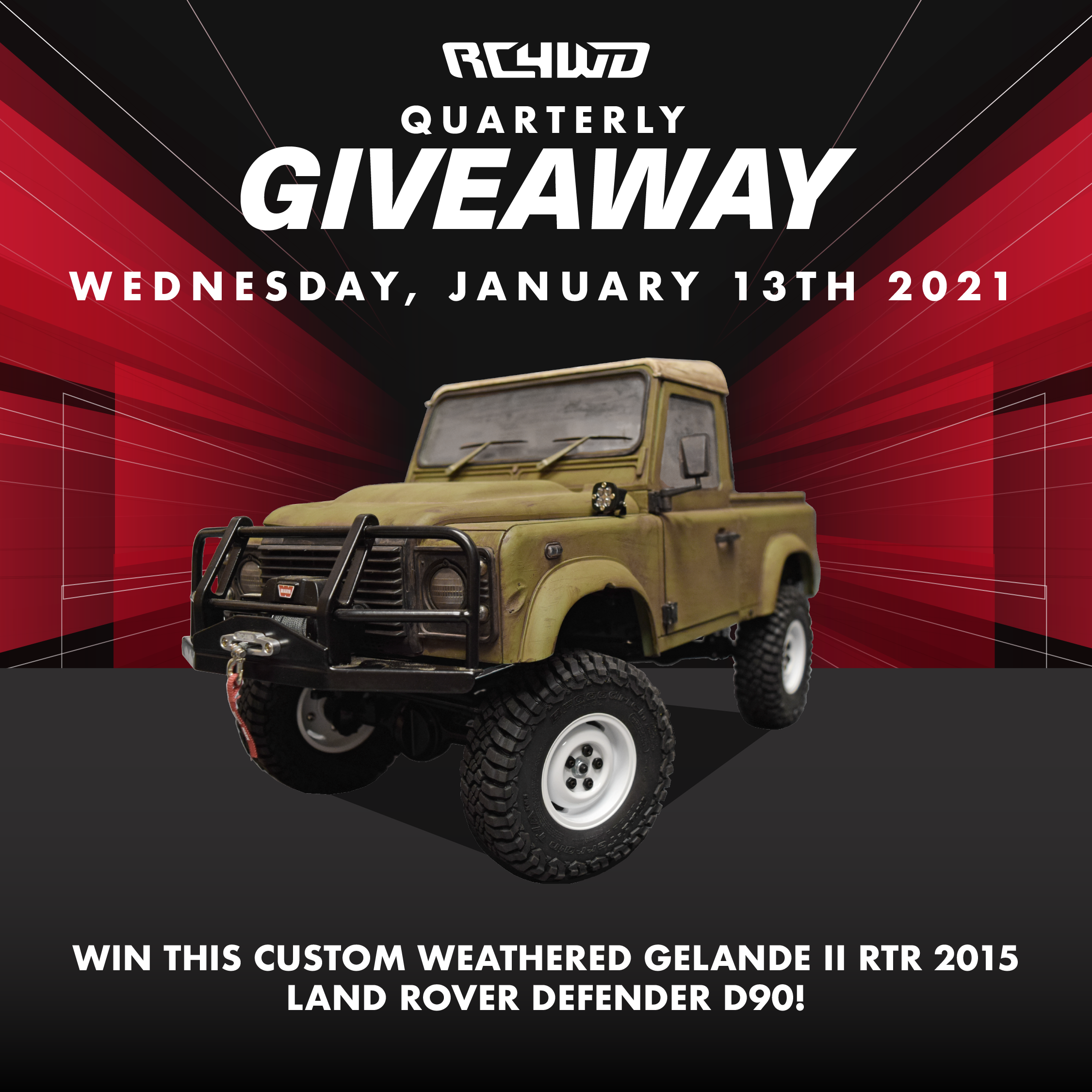 Quarterly Giveaway - 2015 Land Rover Defenders