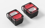 Colored Functional Rear Taillight w/Metal Frame for Axial SCX10 Jeep Wrangler