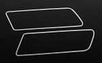 Aluminum Rear Side Window Trim for Traxxas TRX-4 '79 Bronco Ranger XLT