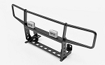 Ranch Front Grille Guard W/Lights for Traxxas TRX-4 '79 Bronco Ranger XLT (Black)