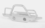 Steel Front Bumper for 1/18 Gelande II RTR W/BlackJack Body (Silver)
