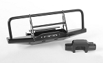 Steel Front Winch Bumper W/Plastic Winch for 1/18 Gelande II RTR W/BlackJack Body (Black)
