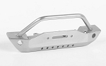 Steel Stinger Front Bumper for 1/18 Gelande II RTR W/Black Rock Body (Silver)