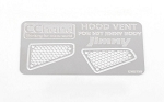 Side Metal Hood Vents for MST 1/10 CMX w/ Jimny J3 Body