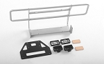 Ranch Front Bumper w/IPF Lights for Capo Racing Samurai 1/6 RC Scale Crawler (Silver)